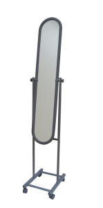 STAND MIRROR WITH 4 WHEELS